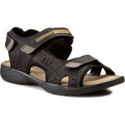 Sandały GREGOR - 01192-ME-C10 Czarny. Czarne sandały męskie skórzane Gregor. W wyprzedaży za 159,00 zł.
