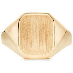 Wspaniały Złoty Pierścionek - złoto żółte 585. Żółte sygnety męskie W.KRUK, złote. Za 1490,00 zł.