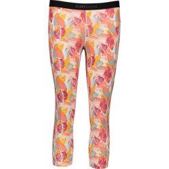 Legginsy sportowe damskie: Sportowe legginsy w kolorze biało-różowym