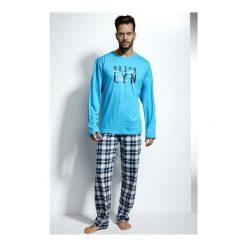 Piżama Long Island 124/107. Niebieskie piżamy męskie marki Cornette. Za 116,90 zł.