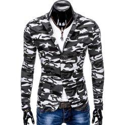 MARYNARKA MĘSKA CASUAL M90 - MORO. Czarne marynarki męskie marki Ombre Clothing, m, z bawełny, z kapturem. Za 89,00 zł.