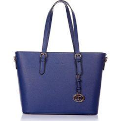 """Torebki klasyczne damskie: Torebka """"Selfridge"""" w kolorze niebieskim – 45 x 29 x 16 cm"""