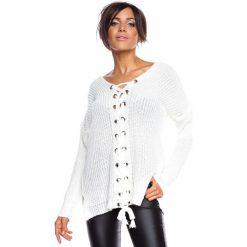 """Swetry klasyczne damskie: Sweter """"Chevilly"""" w kolorze białym"""