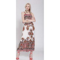 Sukienki hiszpanki: Czerwona Sukienka Oriental Mood