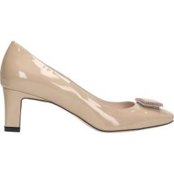 Czółenka ODETTA. Brązowe buty ślubne damskie Gino Rossi, z lakierowanej skóry. Za 299,90 zł.
