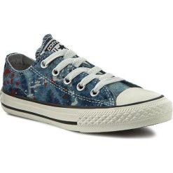 Trampki CONVERSE - 651700C Ash-Grey/Cas. Niebieskie trampki chłopięce marki Converse, z gumy, na sznurówki. W wyprzedaży za 159,00 zł.