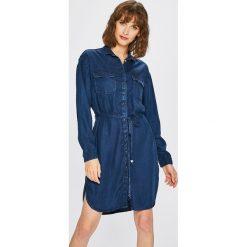 Pepe Jeans - Sukienka Monica. Szare sukienki mini marki Pepe Jeans, na co dzień, m, z jeansu, casualowe. W wyprzedaży za 379,90 zł.