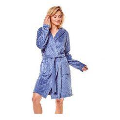 Szlafrok Mimi 36162-95X Niebieski. Niebieskie szlafroki kimona damskie Henderson Ladies, z polaru. Za 145,90 zł.