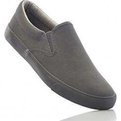 Buty wsuwane bonprix szary. Szare buty sportowe damskie marki bonprix, z materiału. Za 32,99 zł.