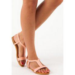Rzymianki damskie: Wygodne sandałki damskie BELLA STAR różowe