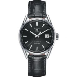 ZEGAREK TAG HEUER CARRERA WAR211C.FC6336. Czarne zegarki męskie marki KALENJI, ze stali. Za 9770,00 zł.