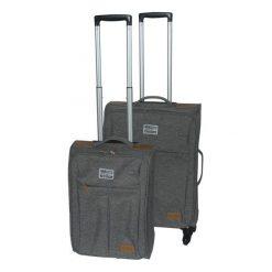 Marex Trade Zestaw 2 Walizek Podróżnych, Jasnoszary, Brązowy/Szary. Brązowe walizki marki Marex Trade, duże. Za 533,00 zł.