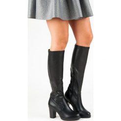 CZARNE KOZAKI NA SŁUPKU VINCEZA. Czarne buty zimowe damskie marki Vinceza, na słupku. Za 198,00 zł.