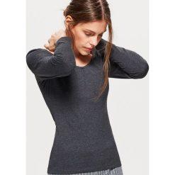 Gładka koszulka z długimi rękawami - Szary. Szare t-shirty damskie marki Cropp, l. Za 29,99 zł.