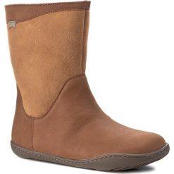 Botki CAMPER - Peu Cami K400048-005 Brown. Brązowe buty zimowe damskie Camper, z nubiku. W wyprzedaży za 459,00 zł.