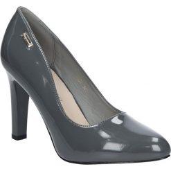 Szare czółenka lakierowane na słupku Sergio Leone 1457. Brązowe buty ślubne damskie marki bonprix, na obcasie. Za 88,99 zł.