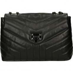 Torba - 4-284-O ST NE. Czarne torebki klasyczne damskie Venezia, ze skóry. Za 429,00 zł.