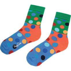 Skarpety Wysokie Unisex HAPPY SOCKS - BDB01-7000 Kolorowy. Zielone skarpetki damskie Happy Socks, w kolorowe wzory, z bawełny. Za 34,90 zł.