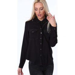 Koszula z haftem czarna MP26038. Czarne koszule damskie Fasardi, m, z haftami. Za 59,00 zł.