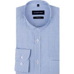 Koszula SIMONE KDNR000151. Niebieskie koszule męskie w paski marki Giacomo Conti, m, z tkaniny, klasyczne. Za 199,00 zł.