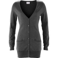 Długi sweter rozpinany bonprix szary melanż. Szare kardigany damskie marki Mohito, l. Za 59,99 zł.