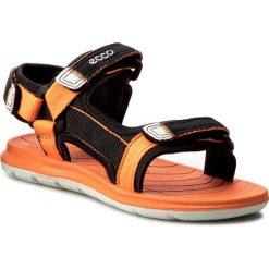 Sandały dziewczęce: Sandały ECCO – Intrinsic Lite 70113250567 Black/Orange Neon