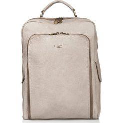 Skórzany plecak w kolorze kremowym - 37 x 25 x 6 cm. Białe plecaki męskie I MEDICI FIRENZE, ze skóry. W wyprzedaży za 548,95 zł.