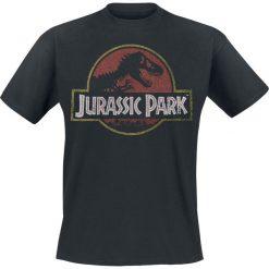 T-shirty męskie z nadrukiem: Jurassic Park Logo T-Shirt czarny