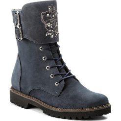 Botki EVA MINGE - Reina 2M 17BD1372202EF 407. Niebieskie buty zimowe damskie Eva Minge, z materiału, na obcasie. W wyprzedaży za 279,00 zł.