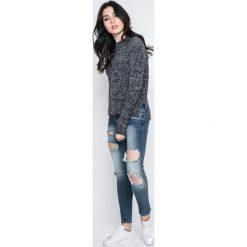 Vero Moda - Sweter. Niebieskie swetry klasyczne damskie marki Vero Moda, z bawełny. W wyprzedaży za 69,90 zł.