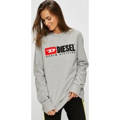 Diesel - Bluza. Szare bluzy rozpinane damskie Diesel, m, z aplikacjami, z bawełny, bez kaptura. Za 569,90 zł.