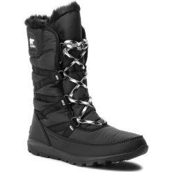 Śniegowce SOREL - Whitney Tall Lace II NL3085 Black 010. Czarne buty zimowe damskie Sorel, z gumy. Za 569,99 zł.