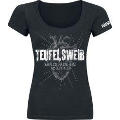 T-shirty damskie: Hämatom Teufelsweib Koszulka damska czarny