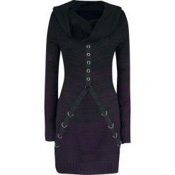 Vixxsin Lena Top Sukienka czarny/jasnofioletowy. Czarne sukienki dzianinowe marki Vixxsin, xl, w paski. Za 284,90 zł.