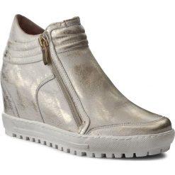 Sneakersy damskie: Sneakersy EKSBUT – 4008-672-1G Złoto