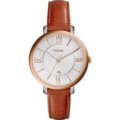 Zegarek FOSSIL - Jacqueline ES3842 Dark Brown/Rose Gold. Różowe zegarki damskie marki Fossil, szklane. Za 569,00 zł.
