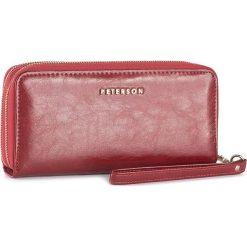 Duży Portfel Damski PETERSON - 440/B-14-03-01 Czerwony. Czerwone portfele damskie Peterson, ze skóry. W wyprzedaży za 139,00 zł.