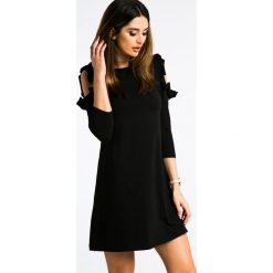 Czarna Sukienka z Odkrytymi Ramionami 3302. Niebieskie sukienki marki Reserved, z odkrytymi ramionami. Za 59,00 zł.
