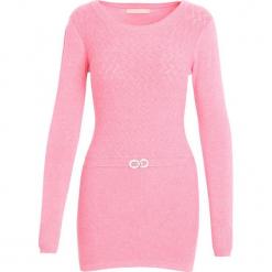 Różowy Sweter From Me. Czerwone swetry klasyczne damskie Born2be, na jesień, l. Za 29,99 zł.