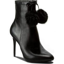 Botki MICHAEL KORS - Remi Bootie 40F7REHE5L  Black. Czarne buty zimowe damskie Michael Kors, z materiału. W wyprzedaży za 659,00 zł.