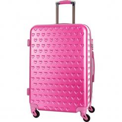 Walizka w kolorze różowym - 36 l. Czerwone walizki Bagstone & Travel One, z materiału. W wyprzedaży za 179,95 zł.