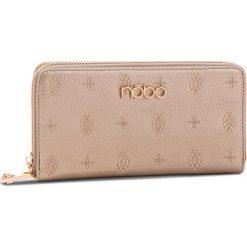 Duży Portfel Damski NOBO - NPUR-D1061-C023  Złoty. Żółte portfele damskie marki Nobo, ze skóry ekologicznej. W wyprzedaży za 99,00 zł.