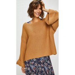 Answear - Sweter. Brązowe swetry oversize damskie ANSWEAR, m, z dzianiny. W wyprzedaży za 79,90 zł.