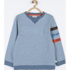 Bluza. Niebieskie bluzy chłopięce rozpinane Cosmic, z aplikacjami, z bawełny, z długim rękawem, długie. Za 65,90 zł.