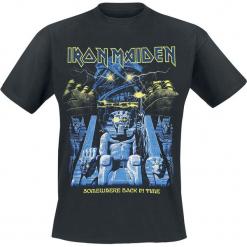 Iron Maiden Back in Time Mummy T-Shirt czarny. Czarne t-shirty męskie Iron Maiden, l, z nadrukiem, z okrągłym kołnierzem. Za 74,90 zł.