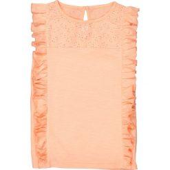 Bluzki dziewczęce: Bluzka bez rękawów, z falbankami i haftem, 3-12 lat