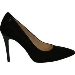 Czółenka - 24069 CAM NER. Czarne buty ślubne damskie Venezia, ze skóry. Za 299,00 zł.