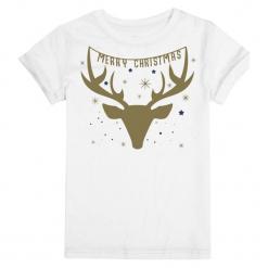 Christmas T-Shirt T-Shirt Damski Christmas Deer L Biały. Białe t-shirty damskie Christmas T-Shirt, l. Za 45,00 zł.