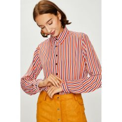 Answear - Koszula. Różowe koszule damskie marki ANSWEAR, l, w paski, z poliesteru, casualowe, z klasycznym kołnierzykiem, z długim rękawem. W wyprzedaży za 79,90 zł.