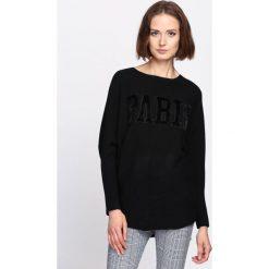 Czarny Sweter Silent Joy. Czarne swetry klasyczne damskie Born2be, l, z dzianiny, z dekoltem w łódkę. Za 59,99 zł.